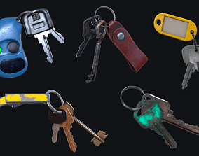 HQ PBR Keychains Pack 3D model