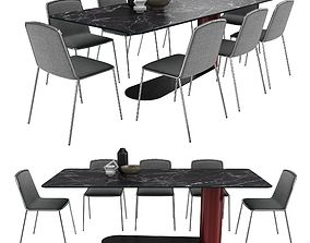 Bold table pletra chair by lago 3D
