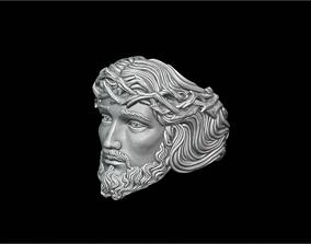 3D printable model Ring Jesus