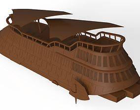 Jabba The Hutt s Sail Barge Ship 3D model