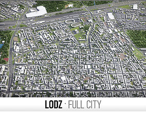 Lodz - city and surroundings 3D asset