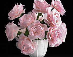 3D model Pink rose bouquet