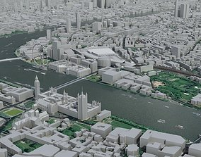 3D model London City Central urban