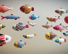 game 3D model Cartoon Fish