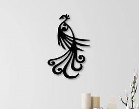 3D print model Peacock wall decoration
