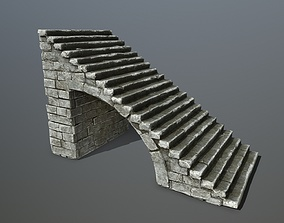 3D asset realtime ice stairs