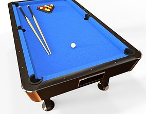 classic pool table 3D asset