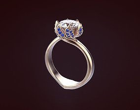 Ring with stones 83 3D print model