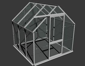 Domestic Garden Greenhouse 3D