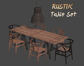 RUSTIK Table Set 3D model