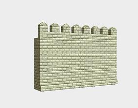 Castle wall 3D printable model