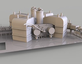 Particle Accelerator separated sector cyclotron 3D model
