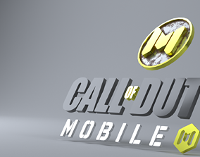 3D asset Call of duty mobile logo and title