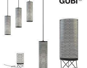 Set of lamps Gubi 3D model