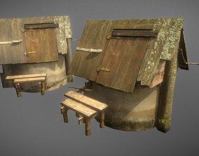 Scanned photorealistic old water well 3D asset