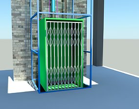 3D model Hydraulic Powered Wire rope Elevator