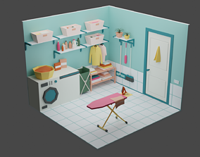 Laundry Room 10 3D asset