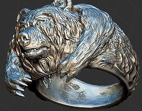Brutal Bear Ring 3D print model