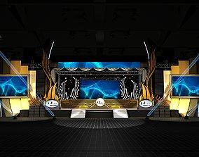 stage design 3D spotlight