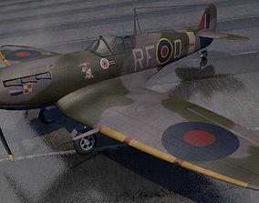 3D model Supermarine Spitfire Mk-5b