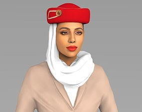 Emirates Airline Stewardess Highly Realistic human 3D