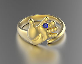 3D printable model Baby hand shaped ring 0031