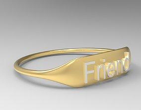 3D printable model Friend Ring
