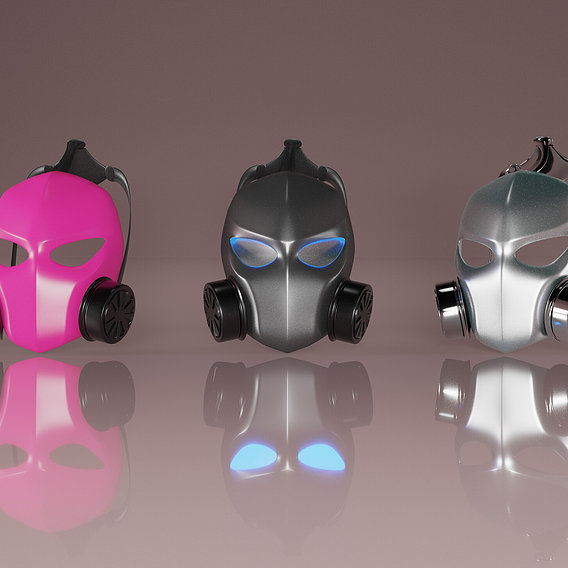 Bullet Proof Helmet-Mask For 6 Underground Low-poly 3D model