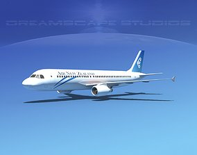 Airbus A320 LP Air New Zealand 3D asset
