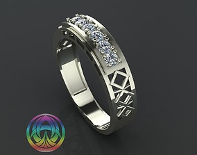 jewelry diamond ring 3D print model jewellery