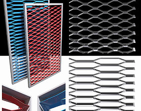 3D Expanded metal stainless grill