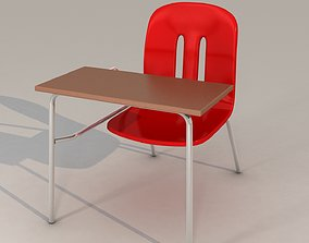 bottle School Chair 3D