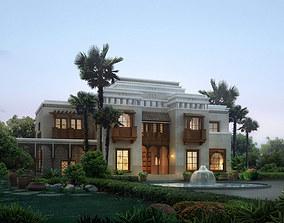 Luxury Villa with Palm Tree 3D