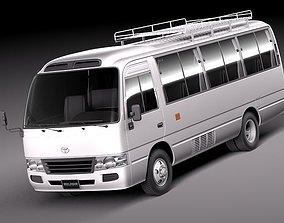 Toyota Coaster 2012 Minibus 3D Model