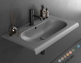 3D Ceramica Cielo Fluid Wall-mounted Washbasin