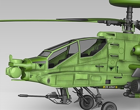Apache 64 Helicopter 3D model