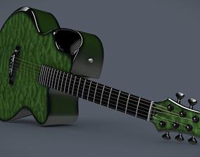 Emerald X30 Carbon acoustic guitar 3D model
