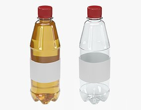 3D model 500 ml juice bottle