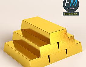 3D PBR Gold bars