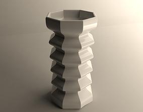 3D print model flowers Modern vase
