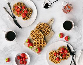 3D Waffles breakfast