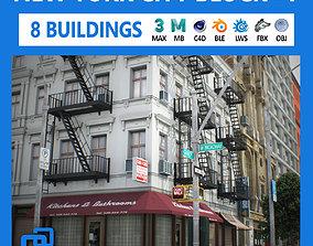 NYC Block Set 7 V2 3D asset