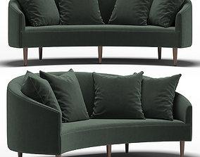 3D model Art Deco Petite Sofa