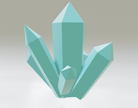 3D model Low Poly Crystal Asset