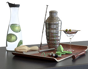 3D model Cocktail Set - KITCHEN KRAFT Luxe Lounge Shaker