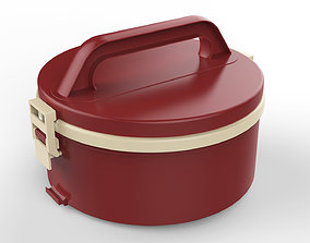 Lunch Box Container 1 Compartment 3D compartment