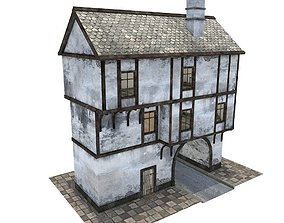 Medieval gate house 3D