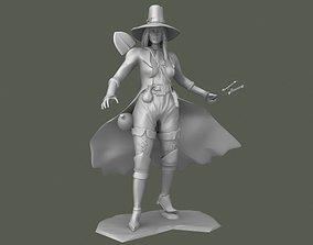 Girl knife thrower 3D printable model