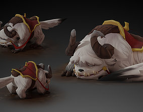 Animated Demon Mount Lowpoly Character 3D asset