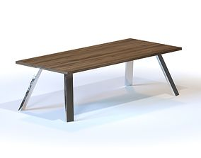 3D The Christian Woo Angled Steel Dining Tables